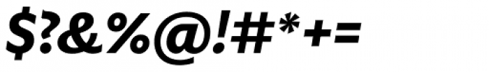 Gardner Sans Semibold Italic Font OTHER CHARS