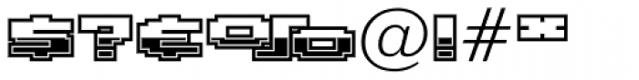Gargantua BTN Chrome Font OTHER CHARS