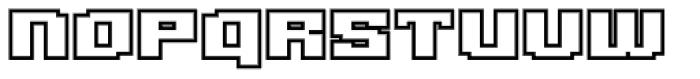 Gargantua BTN Outline Font UPPERCASE