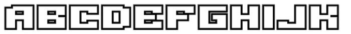 Gargantua BTN Outline Font LOWERCASE