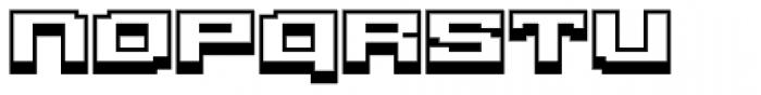 Gargantua BTN Shadow Font LOWERCASE