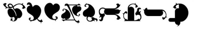 Gargoil ICG Ornaments Font LOWERCASE