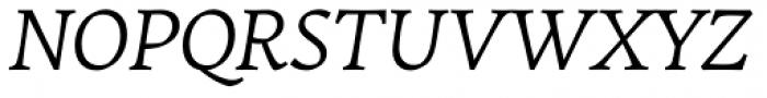 Garibaldi Italic Font UPPERCASE