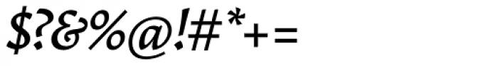 Garibaldi Medium Italic Font OTHER CHARS