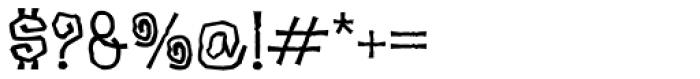 Garish Font OTHER CHARS