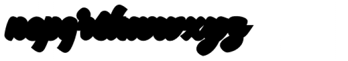 Garlandia Script Extrude Font LOWERCASE