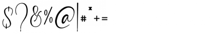 Garlando Regular Font OTHER CHARS