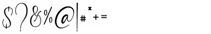 Garlando Signature Font OTHER CHARS
