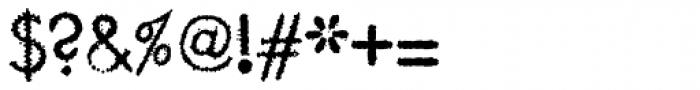 Garnet Euro Typewriter Font OTHER CHARS