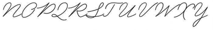 Garnet Script Font UPPERCASE