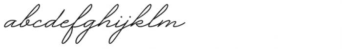 Garnet Script Font LOWERCASE