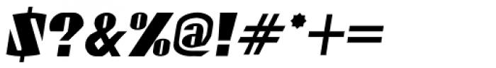 Gaspardo Condensed Oblique Font OTHER CHARS