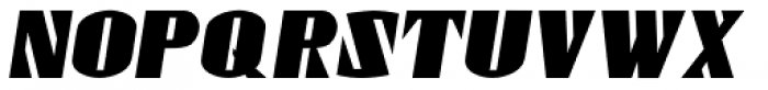 Gaspardo Condensed Oblique Font UPPERCASE