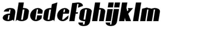 Gaspardo Condensed Oblique Font LOWERCASE