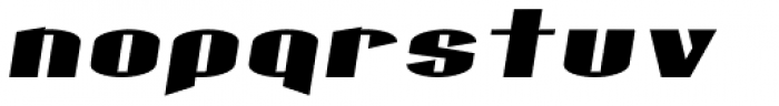 Gaspardo Extra Expanded Oblique Font LOWERCASE
