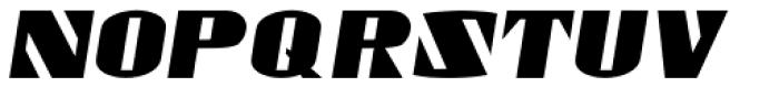 Gaspardo Oblique Expanded Font UPPERCASE