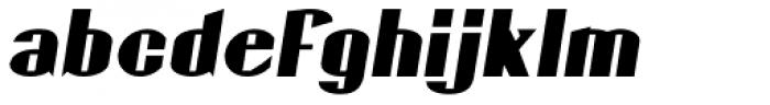 Gaspardo Oblique Expanded Font LOWERCASE