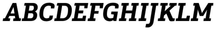 Gaspo Slab Black Italic Font UPPERCASE