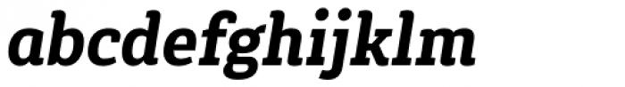 Gaspo Slab Black Italic Font LOWERCASE