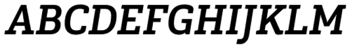 Gaspo Slab Bold Italic Font UPPERCASE