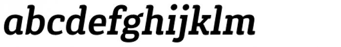 Gaspo Slab Bold Italic Font LOWERCASE
