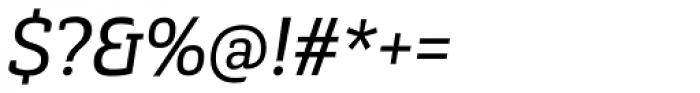 Gaspo Slab Regular Italic Font OTHER CHARS