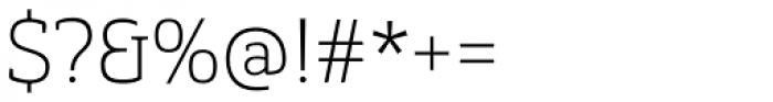 Gaspo Slab Thin Font OTHER CHARS