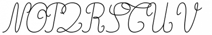 Gaston Linear Light Italic Font UPPERCASE