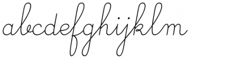 Gaston Linear Light Italic Font LOWERCASE