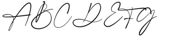 Gatha Script Font UPPERCASE
