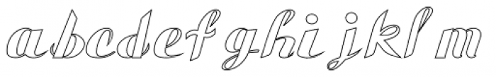 Gauche Display Hollow Font LOWERCASE
