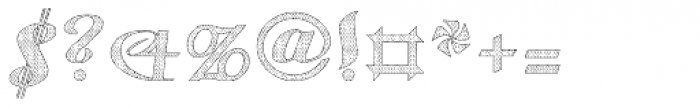 Gauche Display Old Lace Font OTHER CHARS