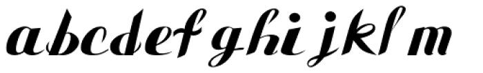 Gauche Display Font LOWERCASE