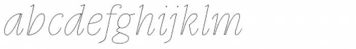 Gauthier Display FY Thin Italic Font LOWERCASE