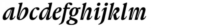 Gauthier FY Bold Italic Font LOWERCASE