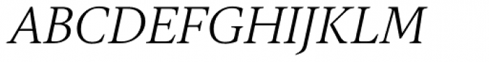 Gauthier FY Italic Font UPPERCASE