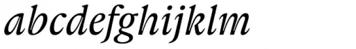 Gauthier FY Medium Italic Font LOWERCASE