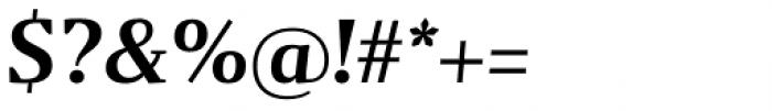 Gazeta Demi Bold Italic Font OTHER CHARS