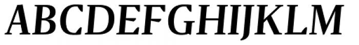 Gazeta Demi Bold Italic Font UPPERCASE