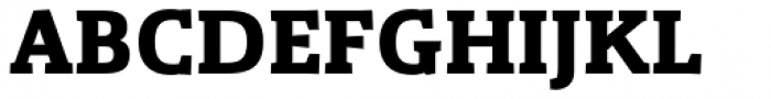 Gazeta Slab Bold Font UPPERCASE