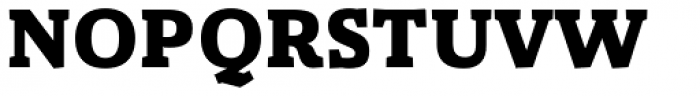 Gazeta Slab Extra Bold Font UPPERCASE