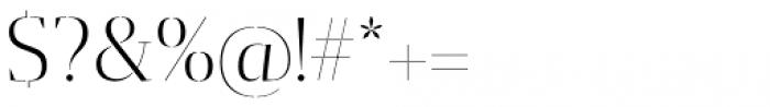 Gazeta Stencil Ds Light Font OTHER CHARS