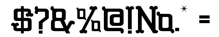 GBGoldenBones-Regular Font OTHER CHARS