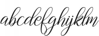Gebrina otf (400) Font LOWERCASE