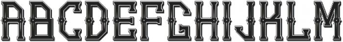Gedung Sate Artdeco SHDWstylic otf (400) Font LOWERCASE