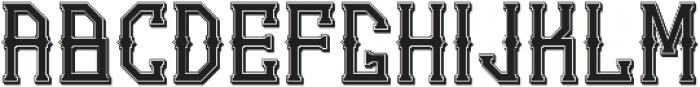 Gedung Sate Artdeco Shadowbasic otf (400) Font LOWERCASE