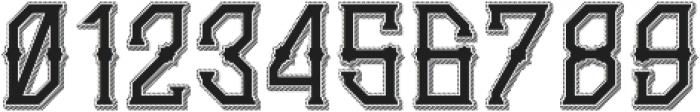 Gedung sate Artdeco sliceShadow otf (400) Font OTHER CHARS