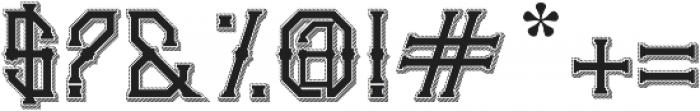Gedung sate Artdeco sliceShadow ttf (400) Font OTHER CHARS