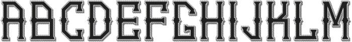 Gedung sate Artdeco sliceShadow ttf (400) Font UPPERCASE
