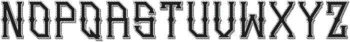 Gedung sate Artdeco sliceShadow ttf (400) Font LOWERCASE